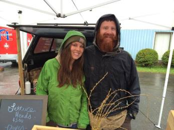Dustin and Natasha at The Dover Cove Market Place Farmers' Market in Dover-Foxcroft.  The market is open on Saturdays from 9-1 and Tuesdays from 2-6!
