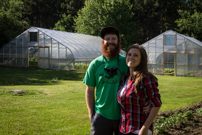 Spruce Mill Farm owners and operators, Dustin and Natasha Colbry